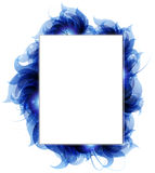 Blue petals background. Transparent blue petals on a white background. Abstract background with place for text Stock Photography