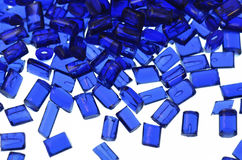 Transparent blue polymer resin Stock Images