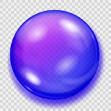 Transparent blue sphere with shadow Stock Image