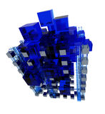 Transparent Blue structure Stock Image