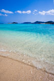 Transparent blue waters of Okinawa Royalty Free Stock Image