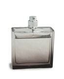 Transparent bottle of perfume Stock Photography