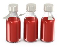 Transparent bottles with a vaccine Stock Photography