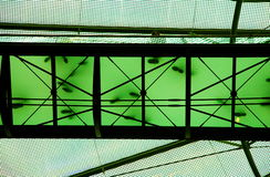 Transparent bridge. A transparent bridge in a building Royalty Free Stock Photography