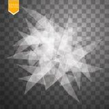 Transparent broken glass on transparent background. Vector illustration Stock Images