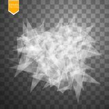 Transparent broken glass on transparent background. Vector illustration Royalty Free Stock Photo