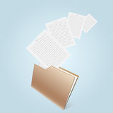 Transparent brown folder Royalty Free Stock Images