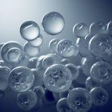 Transparent bubbles Stock Images