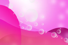 Transparent bubbles on ping background Stock Image