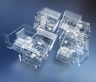 Transparent building Royalty Free Stock Photography