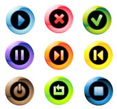 Transparent  buttons Stock Photos