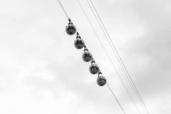 Transparent cable cars that links the Bastille with the city cen Stock Photography