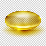 Transparent Capsule Image Stock Photo