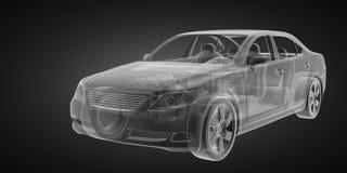 Transparent car concept Stock Photo