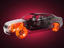Transparent car concept Royalty Free Stock Photos
