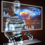 Transparent car concept Stock Image