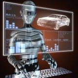 Transparent car concept Stock Images