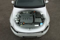 Transparent car engine Stock Photos