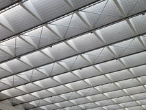 Transparent ceiling - modern architecture interior. Black and white tone Royalty Free Stock Photos