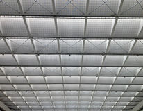 Transparent ceiling - modern architecture interior. Black and white tone Royalty Free Stock Image