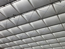 Transparent ceiling - modern architecture interior. Black and white tone Stock Images