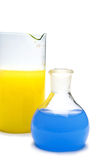 Transparent chemical glassware Royalty Free Stock Photo
