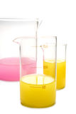 Transparent chemical glassware Royalty Free Stock Images