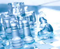 Transparent chess Stock Image