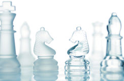 Transparent chess Royalty Free Stock Images