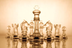Transparent chess Stock Photography