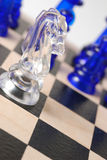 Transparent chess horse Royalty Free Stock Photos