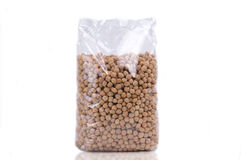 Transparent chick-pea beans packet Royalty Free Stock Images