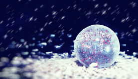 Transparent Christmas ball stock image