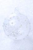 Transparent Christmas ball and bokeh Stock Photo