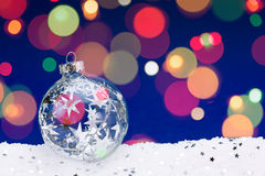 Transparent Christmas ball Royalty Free Stock Images