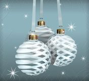 Transparent Christmas Balls Royalty Free Stock Photo