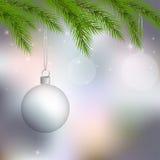 Transparent Christmas balls Royalty Free Stock Photography