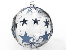 Transparent Christmas globe Stock Photography