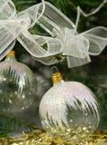 Transparent christmas ornaments Royalty Free Stock Photos