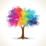 Transparent circle tree shape Royalty Free Stock Photo