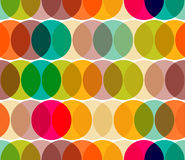 Transparent circles pattern. Abstract geometric circles seamless pattern vector illustration