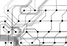 Transparent circuit board Royalty Free Stock Photography