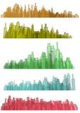 Transparent city Stock Photo