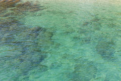 Transparent clear Sea surface with waves reflection aqua perspec Stock Photography