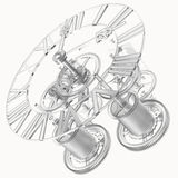 Transparent clock mechanism Royalty Free Stock Photo