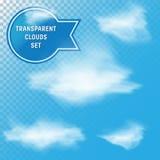 Transparent Clouds Set Stock Image