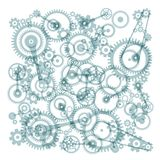 Transparent Cogs, Gears on White Background. Vector Royalty Free Illustration