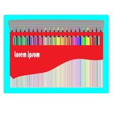 Transparent color pencil box vector illustration