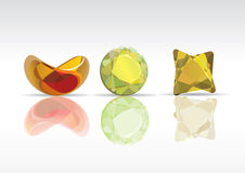 Transparent colored gem Stock Images