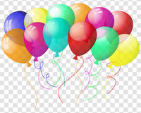 Transparent colorful balloons Stock Images